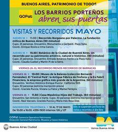 GCBA | LOS BARRIOS PORTEÑOS ABREN SUS PUERTAS (MAYO 2017)  Durante mayo continúa una propuesta para descubrir la historia de la Ciudad.  La actividad es gratuita y con cupos limitados.   Inscripción: del 10 al 17 mayo de 2017.  Más info: http://ly.cpau.org/2qMxXps  #AgendaCPAU #RecomendadoARQ #Recorridos #Gratuito