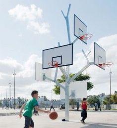 Arbre à Basket - Parc des Chantiers