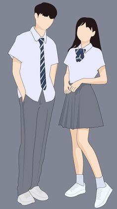Cute Couple Drawings, Cute Couple Cartoon, Cute Couple Art, Cute Love Cartoons, Anime Couples Drawings, Cute Anime Couples, Cute Drawings, Wattpad Cover Template, Wattpad Book Covers