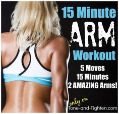 Amazing 15 minute at-home arm workout from www.Tone-and-Tighten.com #workout #fitness