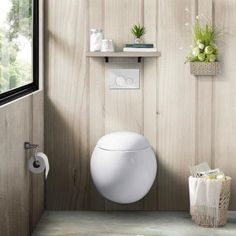 Swiss Madison 0.8/1.28 GPF Plaisir Wall Hung Dual Flush Elongated Toilet Bowl in White-SM-WT660 - The Home Depot Toilette Design, Dual Flush Toilet, Wax Ring, Wall Mounted Toilet, Bathroom Toilets, Pool Bathroom, Master Bathroom, Office Bathroom, Bathroom Organisation
