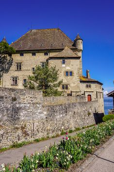 A boat trip to France: visiting Yvoire - Our Swiss experience Garden Of Five Senses, Yvoire, Old Port, Lake Geneva, Medieval Town, Stone Houses, 14th Century, France Travel, Nice View