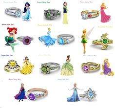 925 Sterling Silver Multicolor CZ Disney Princess Engagement Ring For Women's #eightyjewels #SolitairewithAccents