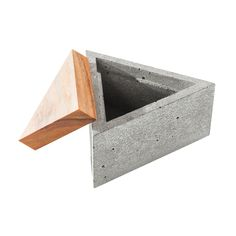 Store your prized possessions and jewelry in our minimalist style Sawtelle Concrete Box. This triangular container has a solid teak lid and makes a great decorative accent in any room.  Find the Sawtelle Concrete Box, as seen in the The Best of Modern Design Collection at http://dotandbo.com/collections/the-best-of-modern-design?utm_source=pinterest&utm_medium=organic&db_sku=92789