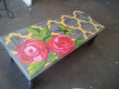 refurbished painted furniture...pretty rose
