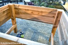 how to build an elevated garden bed table 13