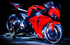 Red Honda CBR1000rr. Love that red!