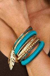 Shop on trend COLOR - the Bright bangle set. #bostonproper #accessories #travelcollection
