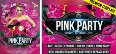Pink Party – Premium Flyer Template http://www.exclusiveflyer.com/premium-templates/pink-party-premium-flyer-template/