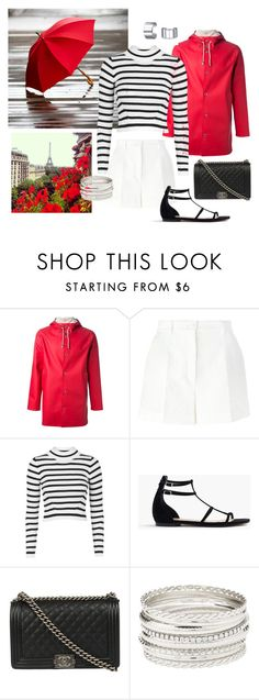 """""""Barbie in Paris in the Rain"""" by ruthiebinlove on Polyvore featuring Stutterheim, Dolce&Gabbana, Topshop, J.Crew, Chanel, Charlotte Russe and Bling Jewelry"""