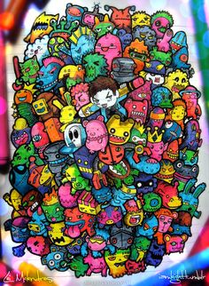 Doodle Monsters by *lei-melendres on deviantART