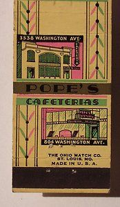 Pope's Cafeterias....St.Louis Missouri - These cafeterias were quite popular a couple of decades ago - and very good eatings, too.