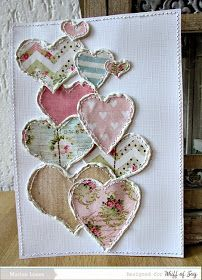 Welcome to marions-scrapkaarten: Whiff of Joy DT Fabric Cards, Fabric Postcards, Valentines Bricolage, Valentine Day Crafts, Sewing Cards, Free Motion Embroidery, Machine Embroidery, Heart Crafts, Creative Cards