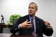 Bruce Rauner will freeze (or otherwise cut) property taxes, cut the state income tax by 67 percent, increase funding of education, increase capital spending on infrastructure projects and place the state of Illinois on a sound fiscal path. Sure he will!