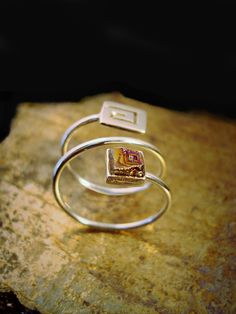 Sterling Silver Ring - Bismuth Ring - Gold Bismuth Crystal - Boho Jewelry - Crystal Jewelry - Bismuth Jewelry - Unique Ring - Gift for Her by GoldenValantine on Etsy Crystal Jewelry, Boho Jewelry, Unique Jewelry, Sterling Silver Rings, Gold Rings, Bismuth, Unique Rings, Gifts For Her, Crystals