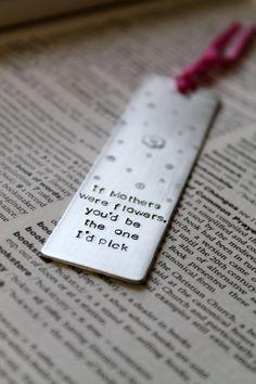 Metal Stamped Personalised Bookmark Dandelion Wish by MauveMagpie