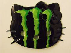 Green Hello Kitty Big Face Magnet Made from Energy Drink Recycled Soda Can Art | eBay