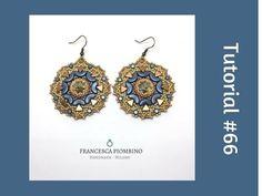 TUTORIAL PERLINE [66] - Orecchini Rosone: rivoli da 12mm, arcos, minos e...