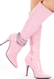 pink retro style boots..