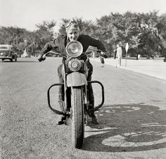 Sally Halterman 1937 The first woman licensed to drive a motorcycle.