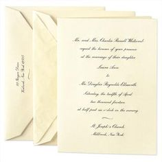 Nothing is more classic and elegant than Crane & Co. engraved wedding invites. Yes please.