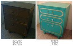 Ugly furniture makeovers! Alley Craft  http://alleycraft.wordpress.com/2012/12/12/ugly-furniture-makeover-small-dresser/