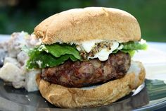 These are the best moose burgers you will ever have! Ground moose meat tends to be very lean which makes it a tad dry; the bacon adds just the right amount of fat and flavor to this meat. Moose Burger Recipe, Moose Recipes, Wild Game Recipes, Venison Recipes, Burger Recipes, Grilling Recipes, Cooking Recipes, Healthy Recipes, Kitchens
