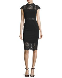 Kim+Lace-Inset+Sheath+Dress+by+Alice+++Olivia+at+Neiman+Marcus.