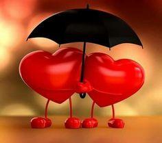 Cuori con ombrello