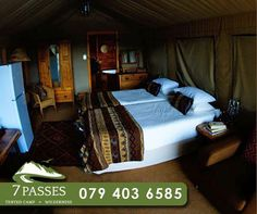 Our beautiful tented units are specifically tailored to your needs with fitted furniture and beautiful bed linens. To book your stay, contact us on 079 403 6585. #7passes #wilderness #accommodation