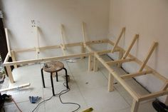 Build a Corner Booth Seating   bench for all seasons – Building a harvest kitchen part 3   No ...