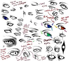 How to draw eyes and anime
