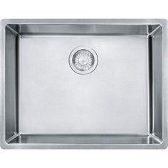 "Franke CUX11021 Cube 22-3/4"" Undermount Kitchen Sink Stainless Steel Fixture Kitchen Sink Stainless Steel"