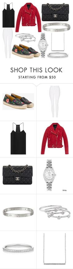 """""""Lunch, Shopping and Drinks"""" by laura2703 ❤ liked on Polyvore featuring Gucci, Topshop, TIBI, Andrew Marc, Chanel, Rolex, Cartier, London Road, Ileana Makri and Sydney Evan"""