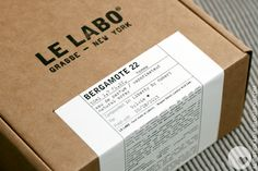 At Le Labo even the packaging is fabulous Candle Packaging, Luxury Packaging, Coffee Packaging, Bottle Packaging, Brand Packaging, Design Packaging, Packaging Ideas, Le Labo, Packaging Stickers