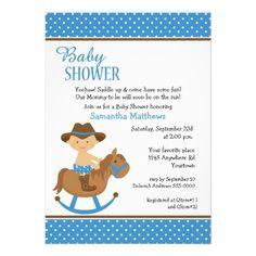 Baby on Rocking Horse Baby shower invite #zazzle