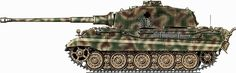 Click this image to show the full-size version. Tiger Ii, Camouflage Patterns, War Thunder, Armored Fighting Vehicle, Ww2 Tanks, Panzer, Military Art, Military Vehicles, World War