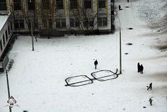 Very cool street art by Pavel Puhov.