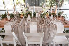 Riverside Country Estate was the perfect backdrop for our Modern Elegance Styled Wedding Shoot {as featured on Mooi Troues earlier this year}. We love combining simple elements like glass & copper with a very simplistic greenery runner, adding a few Black Calla Lilies & White Tulips for a pop of colour. Follow us on Facebook @Pronkertjie for more of our work Wedding Shoot, Wedding Table, Black Calla Lily, White Tulips, Wedding Decorations, Table Decorations, Country Estate, Color Pop, Backdrops