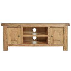 Aylesbury Oak Large TV Unit | Dunelm £229