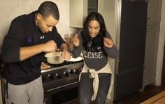 "Stephen Curry And Wife Ayesha Parody Drake ""Chef Curry With The Pot"" Line (Video)"