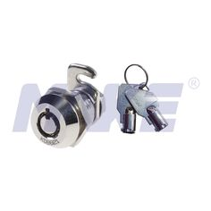 MK101BS-30 Zinc alloy die cast housing and cylinder. Bright chrome plated standard. 4pins or 7pins tumbler mechanism camlock. Rotation angle 90 ° or 180 °. Cam lever affixed by screw or spun-on. Hex nut or speed clip mounted. Available for K/A or K/D 1000 combinations. 2 single bitted brass keys. 1 cam lever, nickel plated. 1 hex nut nickel plated. Suited for Mail boxes,file cabinet,steel cabinet doors. #Minitubularkey #Smallsize #4pins and #7pins available