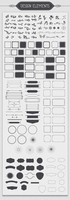 Vintage Design Elements by DesignWorkz on Creative Market