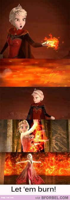 Firebender Elsa | Ummm, this would be so cool.