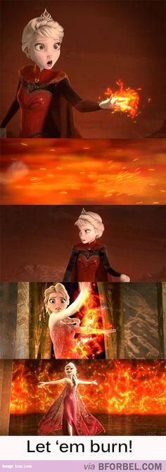 Firebender Elsa | Ummm, this would be so cool.