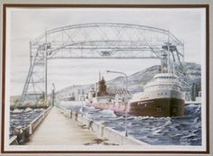 """The Buckeye Faces a Menacing Lake Superior"" -- www.greatlakesfreighters.com/labernik/buckeye.jpg"