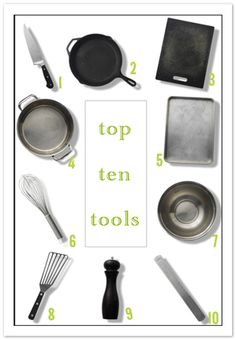 Top Ten Basic Kitchen Tools, from #FourFoodies