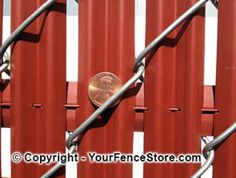 Front side of the Penny Link Fence Slat