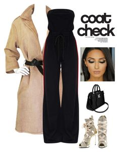 """Coat Check"" by kotnourka on Polyvore featuring Prada, Giuseppe Zanotti and statementcoats"