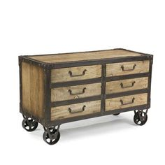 Moe's Home Collection Nolo Sideboard in Distressed Natural
